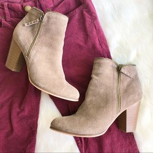 Limelight • Tan Zipper Booties